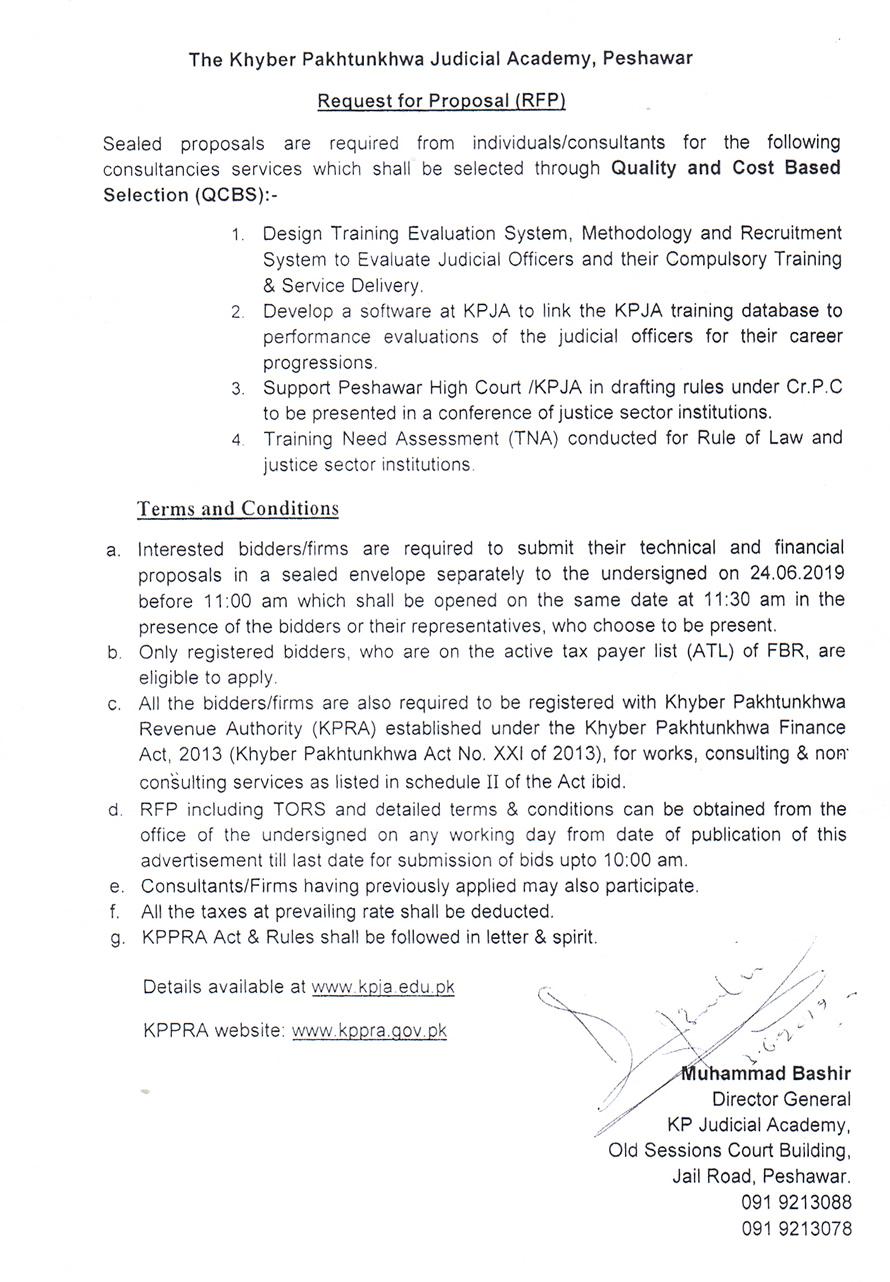 Jobs   Khyber Pakhtunkhwa Judicial Academy, Peshawar, Pakistan
