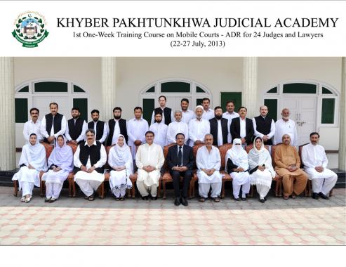 Concluding ceremony of First Mobile Courts-ADR Training for Judges and Lawyers of District Peshawar
