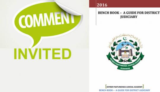 COMMENTS INVITED: Addition of the most common questions to the Bench Book, 2016